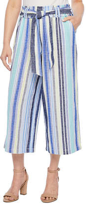 A.N.A Mid Rise Belted Petite Cropped Pants