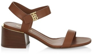 Burberry TB Monogram Leather Sandals