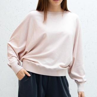 Chalk UK - Soft Knit Batwing Jumper Blush Pink