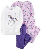 Carter's Baby Girl Horse 4-pc. Tee & Pants Pajama Set