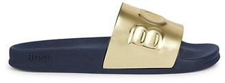 HUGO BOSS Bay Logo Slide Sandals