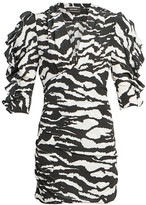 Isabel Marant Farah Zebra Print Mini Dress