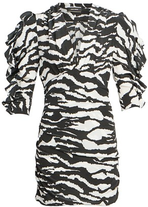 Isabel Marant Farah Zebra Print Mini Dress