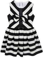 Rare Editions Stripe Satin Dress