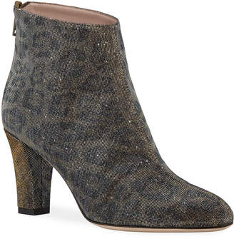 Sarah Jessica Parker Minnie Glittered Leopard Ankle Booties