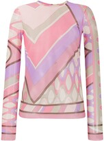 Emilio Pucci abstract print sheer top