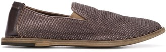 Officine Creative Leather Panel Pleated Loafer
