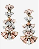 Express tiered teardrop rhinestone cluster drop earrings