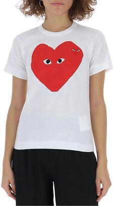 Comme des Garcons Large Heart Print T-Shirt