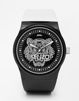 Kenzo Watch With Tiger Head - Black