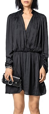 Zadig & Voltaire Wrap-Style Above-The-Knee Dress
