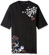 Sean John Men's Big and Tall Floral Bird Tee