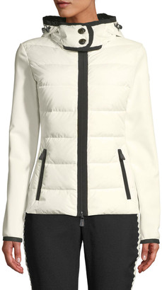 MONCLER GRENOBLE Down Knit Combo Shell Jacket