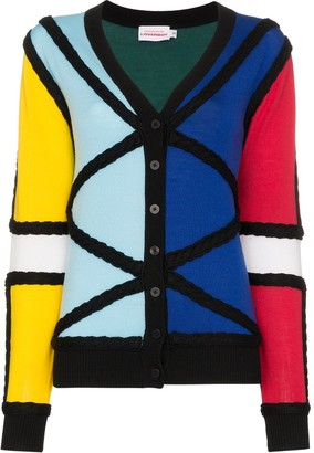 Charles Jeffrey Loverboy colour-block knitted cardigan