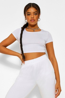 boohoo Basic Short Sleeve Crop Top