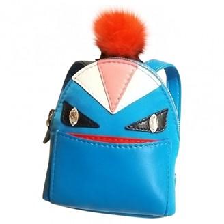 Fendi Turquoise Leather Bag charms