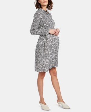 Isabella Oliver Maternity Belted Shirtdress