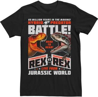 Victoria's Secret Licensed Character Men's Jurassic World T-Rex I-Rex Battle Poster Tee