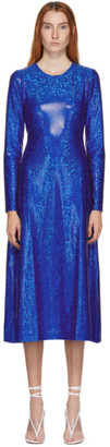 Saks Potts SSENSE Exclusive Blue Shimmer Simple Dress