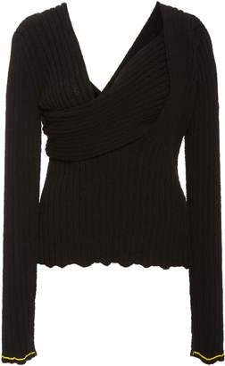 Bottega Veneta Square-Neck Boucle Shirt