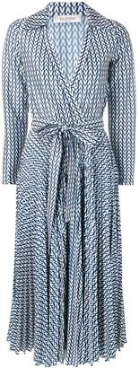Valentino Printed Belted Dress