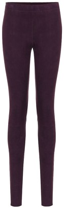 STOULS Carolyn suede skinny pants
