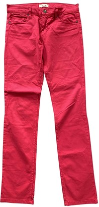 Bel Air Red Cotton - elasthane Jeans for Women