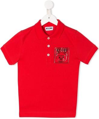 MOSCHINO BAMBINO Logo Polo Shirt