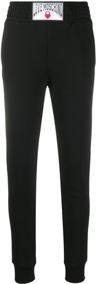 Love Moschino Logo Patch Track Trousers