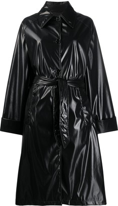 MM6 MAISON MARGIELA Leather-Look Patent Trench Coat