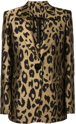 Petar Petrov Justin tailored leopard print jacket