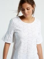 White Stuff Emily broiderie jersey tee