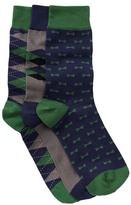 Slate & Stone Argyle Bowtie Diamond Socks - Pack of 3