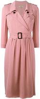 Burberry belted wrap dress - women - Silk/Spandex/Elastane - 8