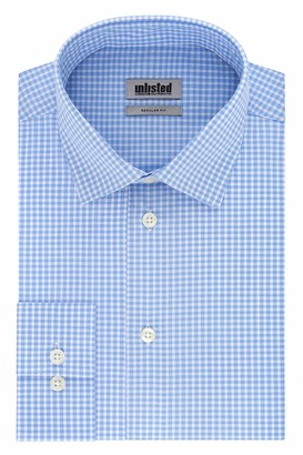 Kenneth Cole New York Unlisted by Kenneth Cole Mens Regular Fit Checks and Stripes (Patterned) Dress Shirt