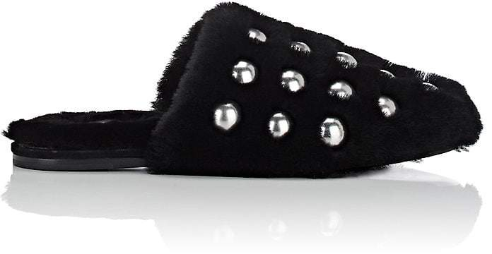 Alexander Wang Women's Amelia Shearling Slide Sandals