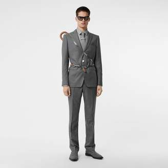 Burberry Classic Fit Metal Button Wool Tailored Trousers