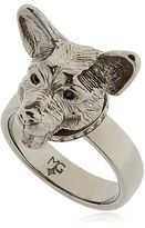 Silver & Crystal Welsh Corgi Ring