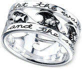 "Unwritten Silver-Tone ""Let the Waves Hit Your Feet"" Ring"