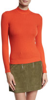 Courreges Ribbed Mock-Neck Sweater
