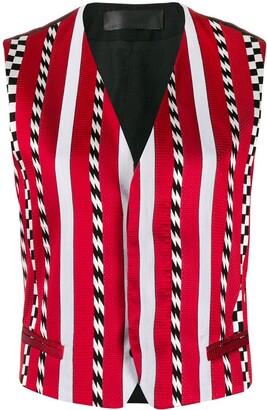 Haider Ackermann Fitted Contrast Stripe Waistcoat