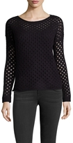 Leo & Sage Women's Cashmere Open Knit Boatneck Sweater