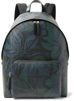 Burberry Leather-Trimmed Printed Faux Leather Backpack
