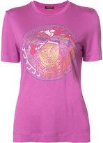 Versace studded Medusa T-shirt - women - Silk/Rayon - 40