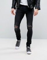 Cheap Monday Tight Jeans Turnout Black Wash