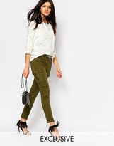 Northmore Denim Northmore Skinny Cargo Pants With Exposed Ankle Zip