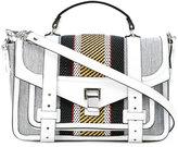 Proenza Schouler striped woven satchel