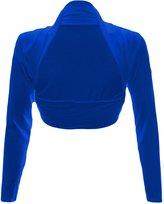 Fashion Wardrobe Womens Long Sleeve Boleros Shrugs Tops Ladies Casual Crop Cardigan Bolero Top ♥ (USA 10-12 / UK 12-14 (M/L), )