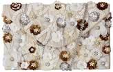 Kaleidoscope Applique Flower Sequin Clutch