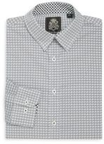 English Laundry Point Collar Cotton Dress Shirt